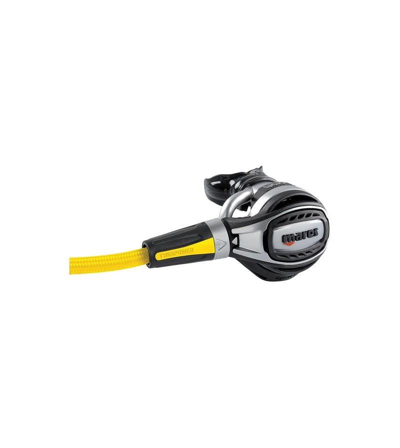 Détendeur secours de plongée, octopus Mares Fusion avec débit réglable et flexible jaune superflex