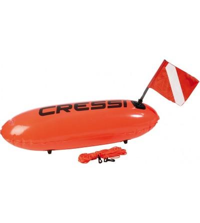 Bouée Longue Silure Cressi pour chasse sous-marine, apnée & nage