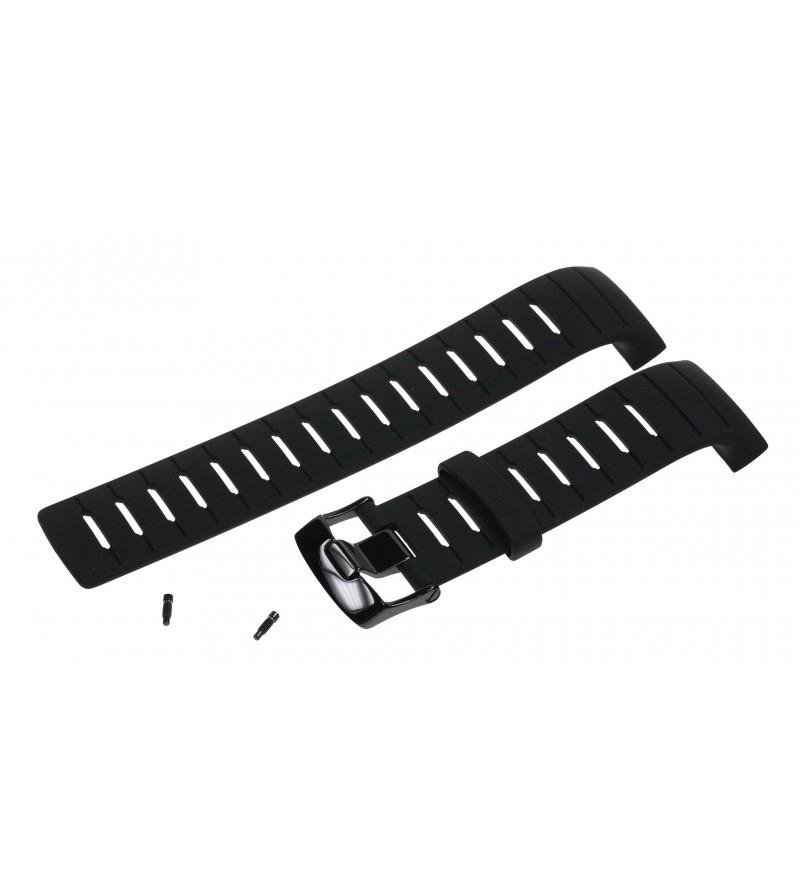 Bracelet de rechange élastomère All Black montre ordinateur Suunto D6 & D6i