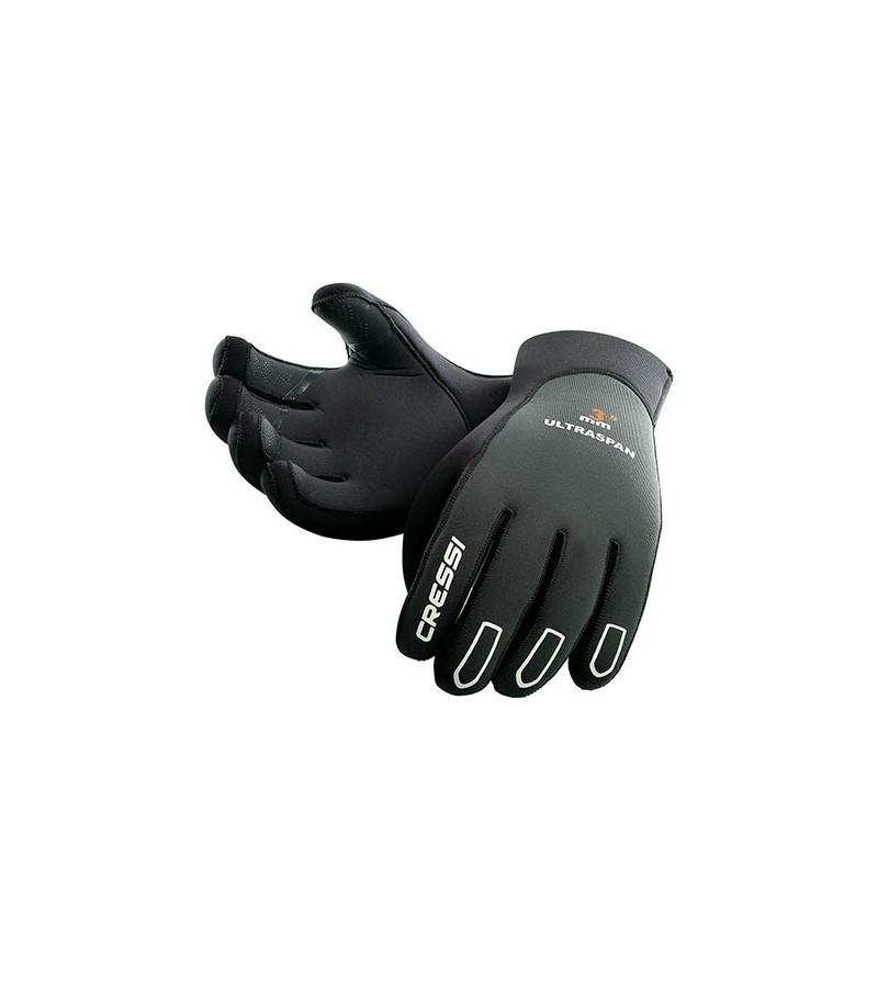 Gants de plongée préformés en néoprène très souple Cressi Ultraspan 3.5mm