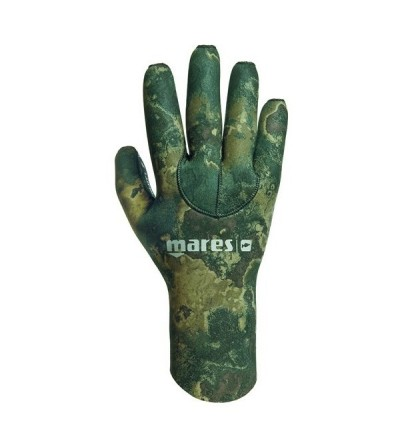 Gants chasse sous-marine en néoprène avec renforts anti-glisse Mares Pure Instinct Camo Green 30 épaisseur 3mm Camouflage vert