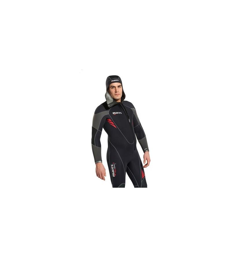 Combinaison monopièce de plongée humide avec cagoule attenante Mares Flexa Warm épaisseur 7mm modèle homme