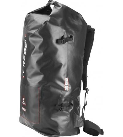 Sac à dos 60 litres étanche en PVC noir Cressi Dry Gara pour la chasse, la plongée sous-marine, l'apnée et la nage