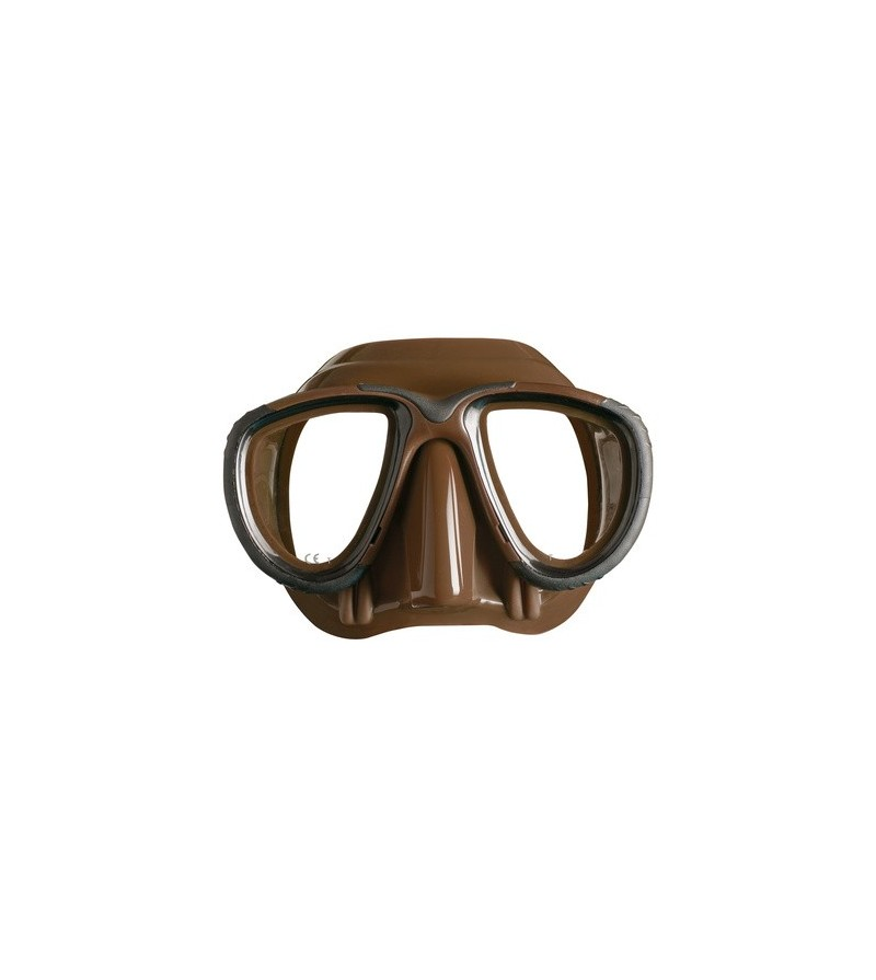 Masque de chasse sous-marine silicone Mares Pure Instinct Tana. Disponible en bleu, noir, vert kaki & marron