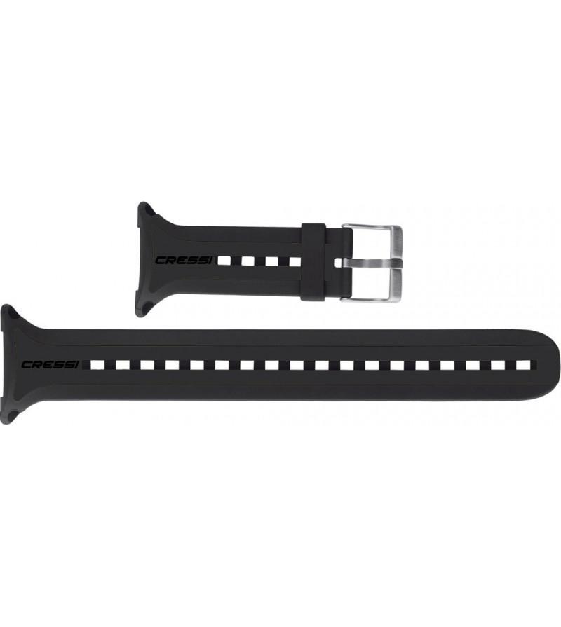 Bracelet de rechange pour ordinateur de plongée Cressi Leonardo. Dispo en noir, gris, bleu, blanc, rose & jaune