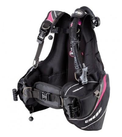 Gilet Stabilisateur réglable Cressi Travelight Rose - idéal pour voyage plongée - modèle Femme