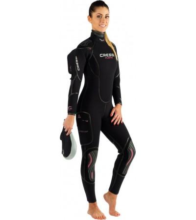 Combinaison de plongée semi-étanche Cressi Atlantis Lady en néoprène ultraspan épaisseur 7mm - Modèle femme 2015