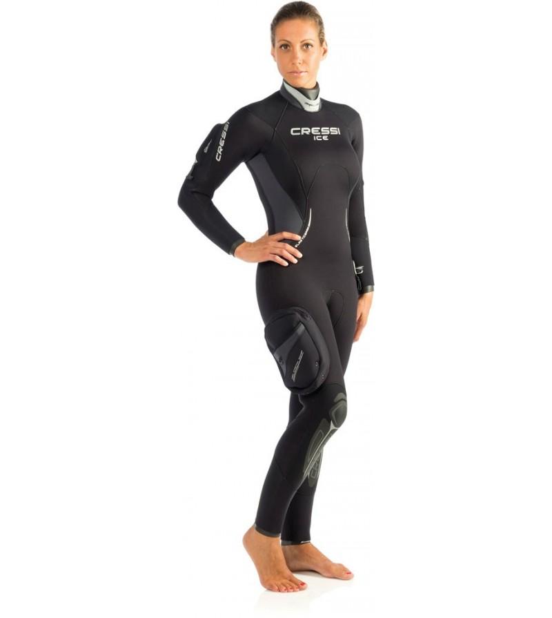 Combinaison de plongée semi étanche Cressi Ice Lady en néoprène épaisseur 7mm - Modèle femme 2016 - Très facile à enfiler