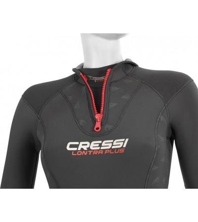 Combinaison de plongée humide monopièce Cressi Lontra Plus Lady en néoprène ultraspan épaisseur 7mm - Modèle femme - Sans cagoul