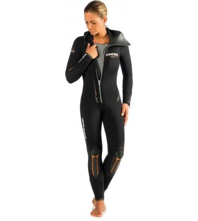 Nouvelle version 2016 de la combinaision humide de plongée Cressi Facile Lady 7mm avec cagoule attenante - Modèle femme
