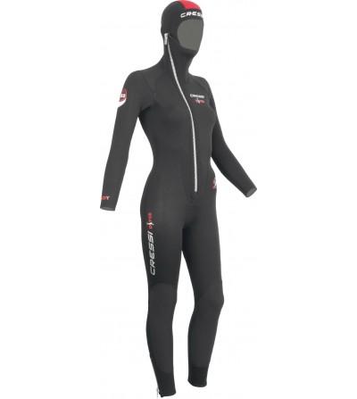 Combinaison de plongée humide monopièce avec cagoule attenante Cressi Diver Lady épaisseur 5mm - modèle femme