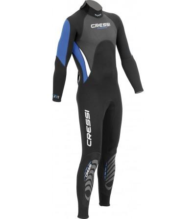 Combinaison humide monopièce de plongée, apnée et snorkeling Cressi Morea en néoprène 3mm - Pour eaux chaudes- Modèle homme
