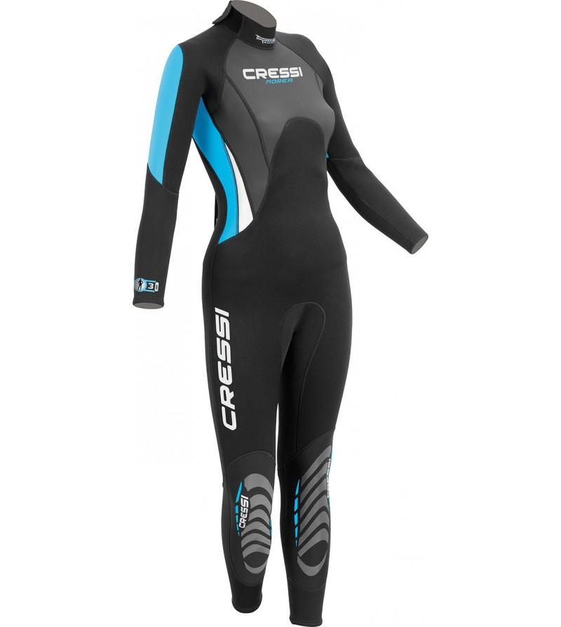 Combinaison humide monopièce de plongée, apnée et snorkeling Cressi Morea Lady en néoprène 3mm - Pour eaux chaudes- Modèle femme