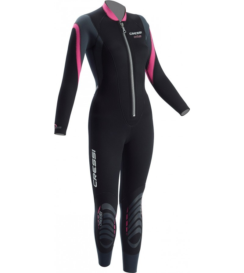 Combinaison de plongée monopièce à fermeture Zip devant pour eaux chaudes Cressi LEI 2.5mm pour Femme