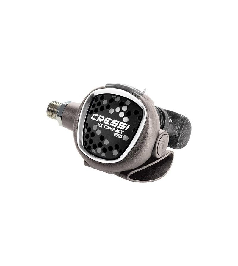 Détendeur voyage léger de plongée compensé pour eau froide Cressi XS Compact Pro MC9-SC DIN 300 bars. Certf EN250/2014