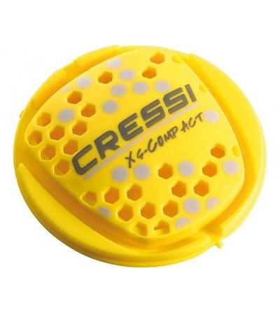 Détendeur voyage léger de plongée à piston classique Cressi XS Compact AC2 en version DIN 300 bars.