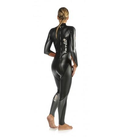 Nouvelle combinaison de nage Cressi Swim Triton Lady 1.5mm avec insert haute visibilité orange fluo. Modèle femme 2016
