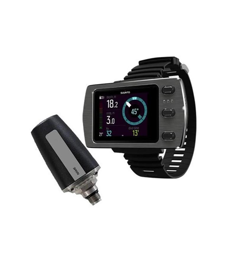 Pack avec Ordinateur de plongée pour poignet Suunto Eon Steel à écran couleur avec câble USB & émetteur sans fil Tank Pod