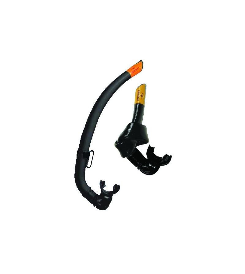 Tuba souple sans soupape Beuchat Activa Tubair noir pour la plongée, l'apnée et la chasse sous-marine.