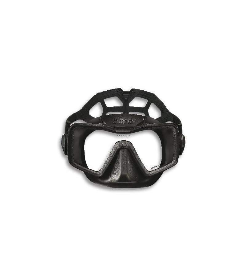 Nouveauté 2016 - Masque monoverre Omersub Apnea spécial pour l'apnée et la chasse sous-marine par Momo Design. Noir