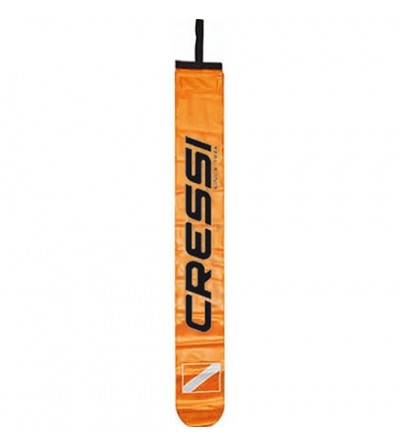 Parachute de palier classique orange Cressi avec étui et ligne en tresse nylon