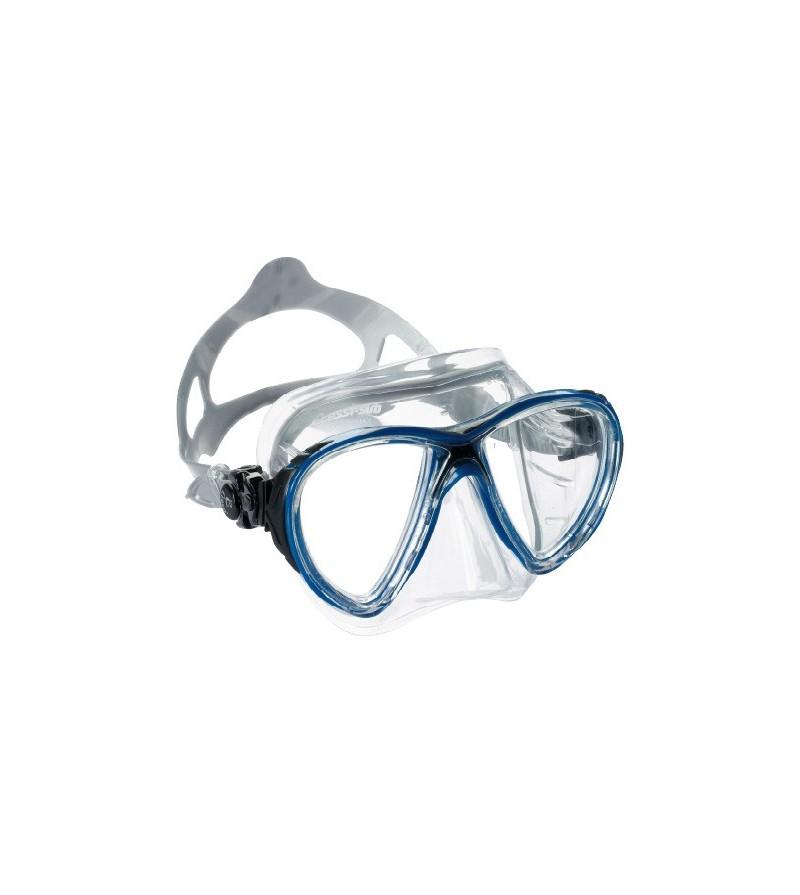 Masque Cressi Big Eyes Evolution Crystal en silicone transparent pour plongée, apnée & snorkeling. Jaune, bleu, rose, noir