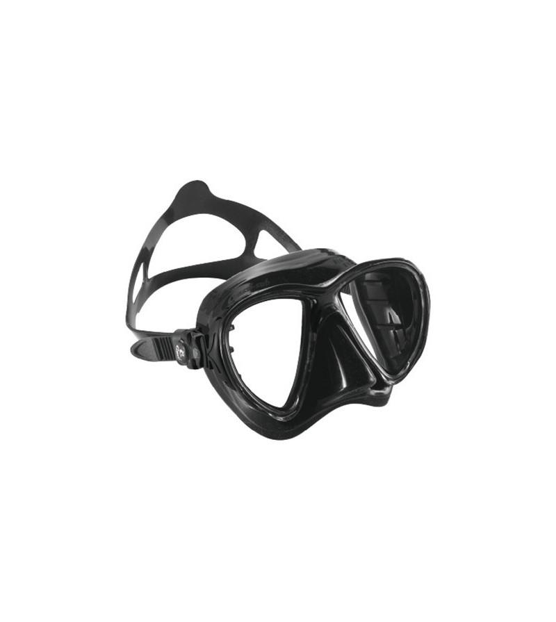 Masque Cressi Big Eyes Evolution en silicone souple noir pour la chasse sous-marine, la plongée, l'apnée & le snorkeling.