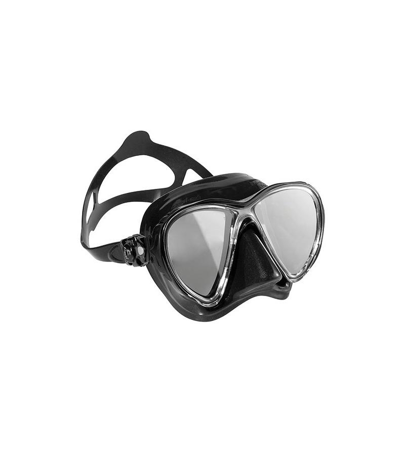 Masque Cressi Big Eyes Evolution en silicone noir & verres miroir HD pour la chasse sous-marine, plongée, apnée & snorkeling.