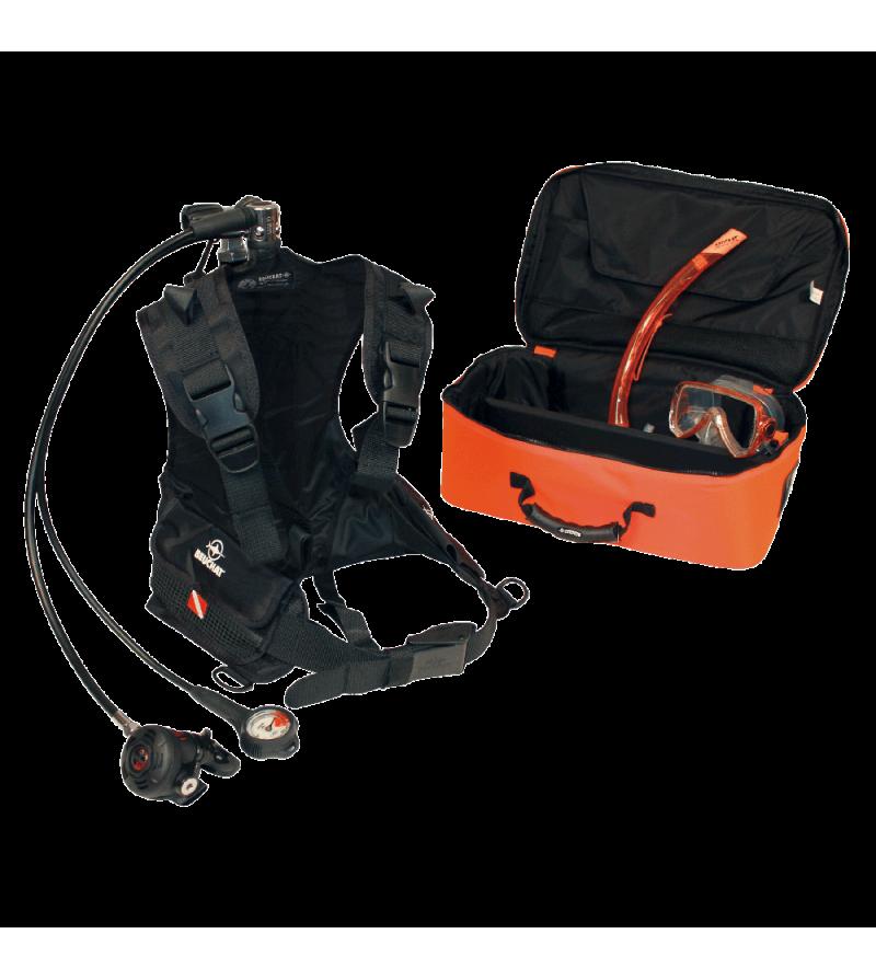 Pack de plongée d'urgence Beuchat pour la plaisance avec bouteille, harnais, manomètre, détendeur, masque et tuba