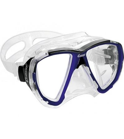 Masque Cressi Big Eyes en silicone transparent ou noir pour la plongée, l'apnée & le snorkeling. Jaune, bleu, azur, rose, noir