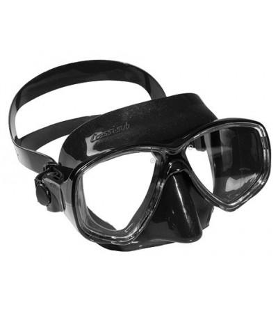 Masque Cressi Marea en silicone noir pour le snorkeling, la natation mais aussi pour la plongée, l'apnée & la chasse sous-marine