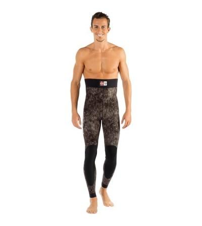 Pantalon de combinaison Cressi Tracina en néoprène 7mm pour la chasse sous-marine & l'apnée - Camouflage marron foncé