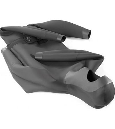 Veste de combinaison Cressi Tracina en néoprène 3.5mm pour la chasse sous-marine & l'apnée - Camouflage marron foncé