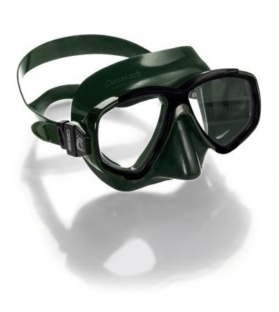 Nouveauté 2016 - Masque deux verre Cressi Perla en silicone vert pour l'apnée et la chasse sous-marine