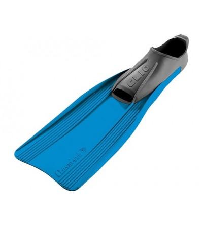 Palmes chaussantes Cressi rondine Clio à voilure longue pour le snorkeling et la randonée PMT. Bleu