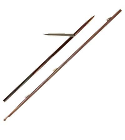 Flèche à ailettes diamètre 6.5mm Cressi en inox 174 PH trempé et traité à chaud pour arbalète et fusil de chasse sous-marine