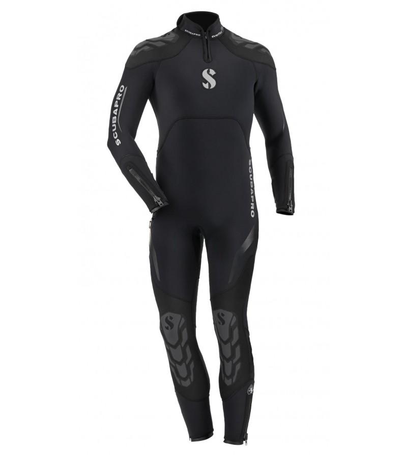 Combinaison humide de plongée en eau froide à tempérée, Scubapro Everflex en néoprène 5mm/4mm pour homme avec ZIP dorsal