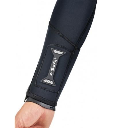 Combinaison humide de plongée en eau froide à tempérée, Scubapro Everflex en néoprène 5mm/4mm pour femme avec ZIP dorsal