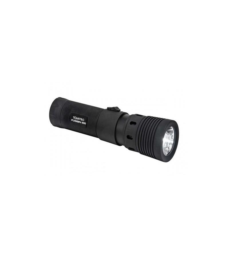 Puissante lampe torche LED rechargeable de plongée Tovatec Fusion 1000 avec soupape de surpression. Eclairage principal ou vidéo