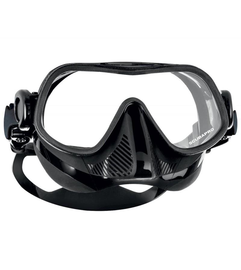 Nouveauté 2016 - Masque monoverre Scubapro Steel Pro Noir spécifique à l'apnée voire la chasse & la plongée sous-marine