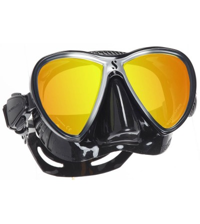 Masque deux verres Scubapro Synergy Twin Trufit noir/argent très confortable surtout en utilisation prolongée - miroir