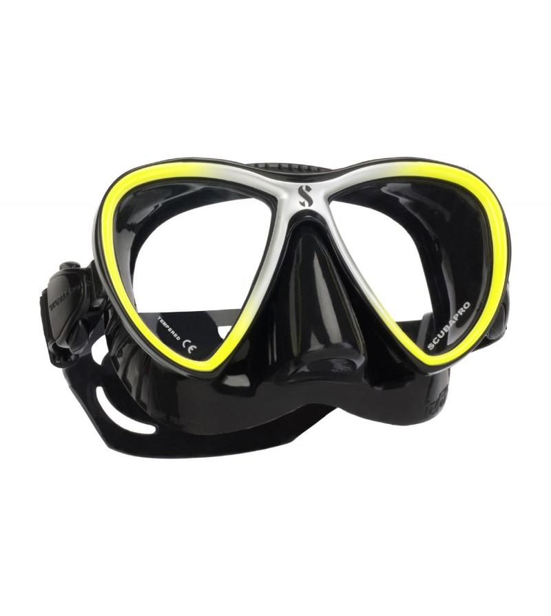 Masque deux verres Scubapro Synergy Twin Trufit très confortable surtout en utilisation prolongée - Jaune