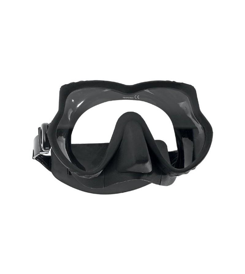 Nouveauté 2016 - Masque monoverre sans cerclage Scubapro Devil avec un excellent champ de vision - Noir