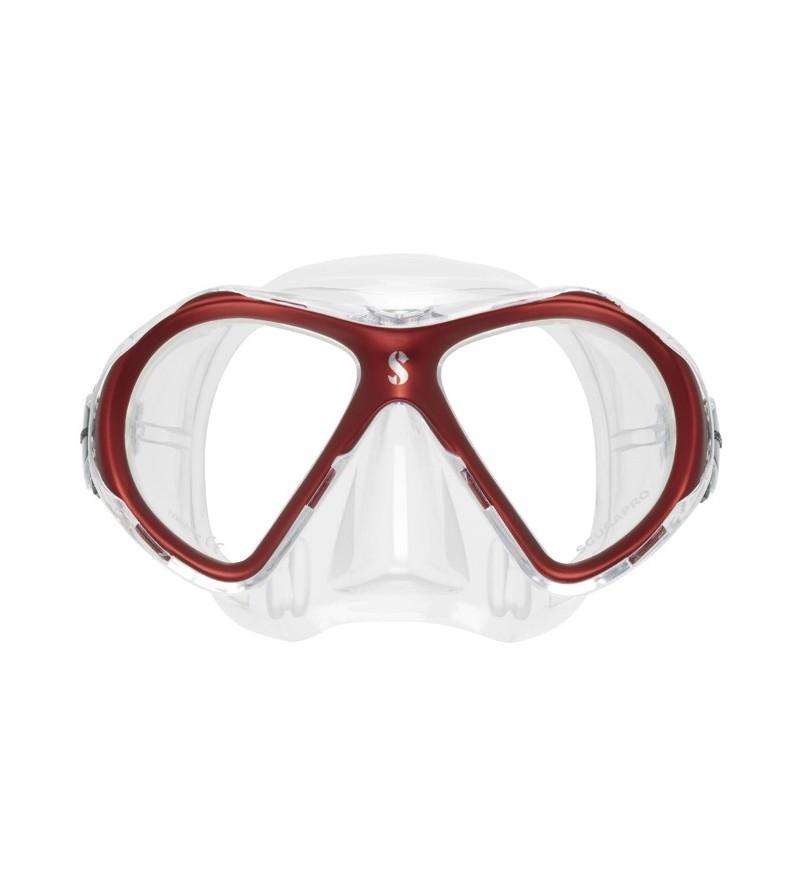 Masque deux verres Scubapro Spectra Mini avec un volume inférieur au Spectra & peinture cerclage biteinte - rouge