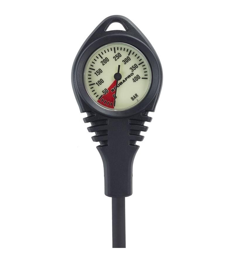 Manomètre Scubapro Standard 400 bars avec cadran fluorescent de diamètre 60mm orienté à 40°