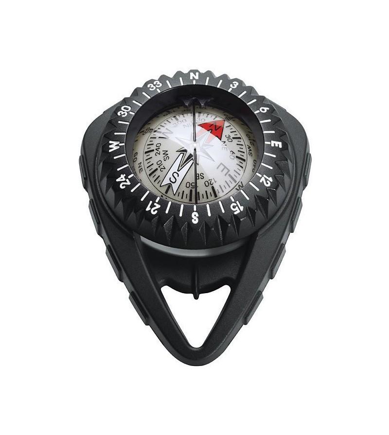 Boussole Compas Scubapro FS2 à bain d'huile facile à lire et conçu pour être accroché à stab avec un enrouleur