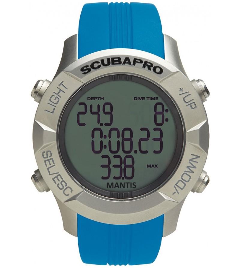 Bracelet de couleur optionnel pour montre ordinateur de plongée Scubapro Mantis 1.0 - Bleu