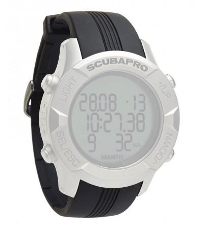 Bracelet standard noir de rechange pour montre ordinateur de plongée Scubapro Mantis 1.0