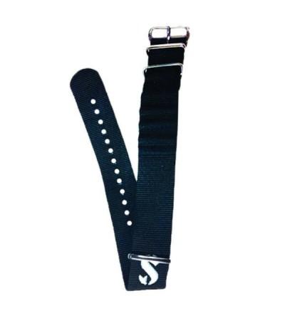 Bracelet en nylon noir pour montre ordinateur de plongée Scubapro Mantis 1.0, Mantis 2 M2, Chromis & Meridian