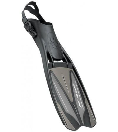 Palmes réglables de plongée Scubapro Jet Sport à tuyères & voilure longue. Rapport qualité/prix/performance idéal - Noir